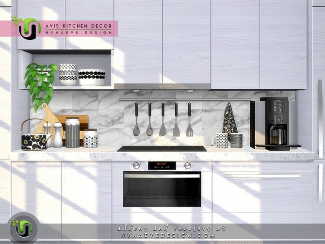 Avis Kitchen Decor by NynaeveDesign at TSR image 7613 670x503 Sims 4 Updates