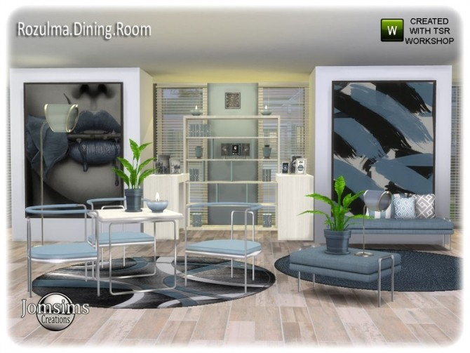 Rozulma Dining room by jomsims at TSR image 7619 670x503 Sims 4 Updates