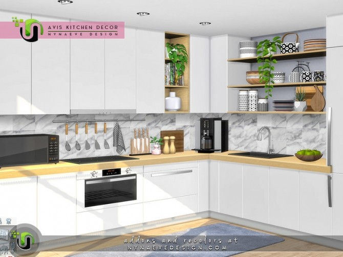 Avis Kitchen Decor by NynaeveDesign at TSR image 7713 670x503 Sims 4 Updates