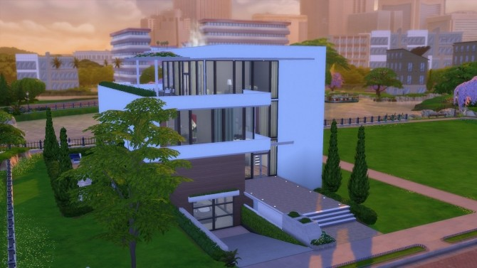 Sims 4 Modern City House by RayanStar at Mod The Sims