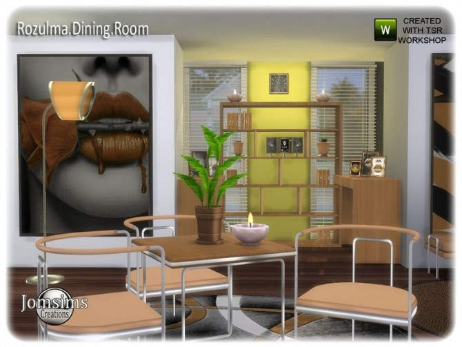 Rozulma Dining room by jomsims at TSR image 7919 670x503 Sims 4 Updates