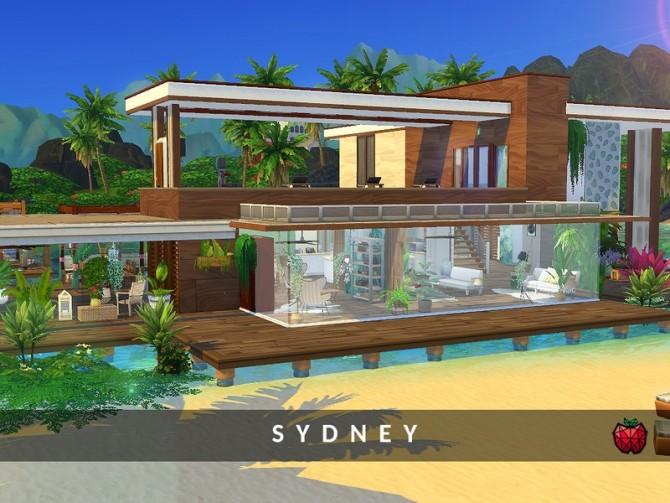 Sims 4 Sydney mansion by melapples at TSR