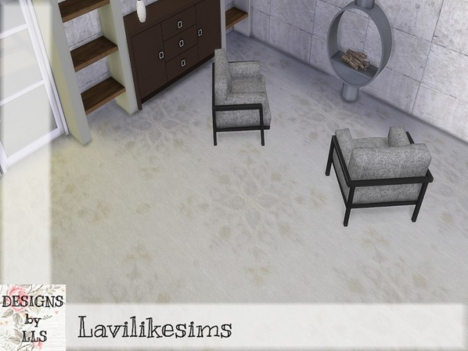 Sims 4 Flower Crest Carpet by lavilikesims at TSR