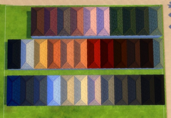 Sims 4 Roof of Life Recolor 34 Swatches by hellokittay at Mod The Sims