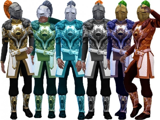 Sims 4 Armor Gold recolor by TrudieOpp at TSR