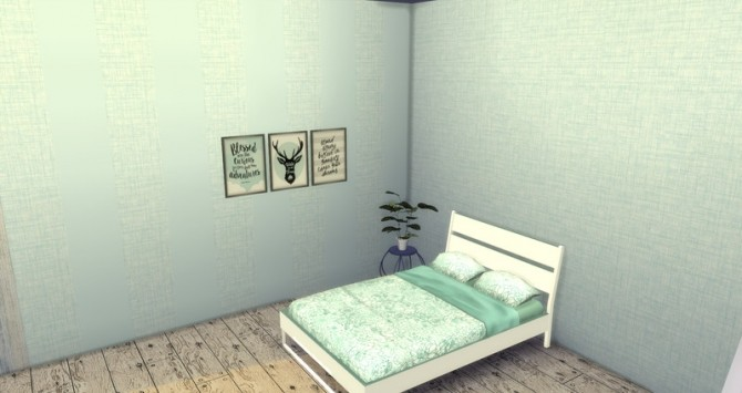 Sims 4 Folklore Linen Yellow/Blue P2 walls by lavilikesims at TSR