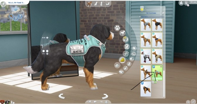Sims 4 Service dog vest by Dayh111 at Mod The Sims
