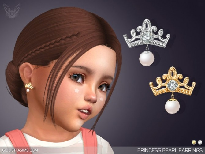 Sims 4 Princess Pearl Earrings For Toddlers at Giulietta