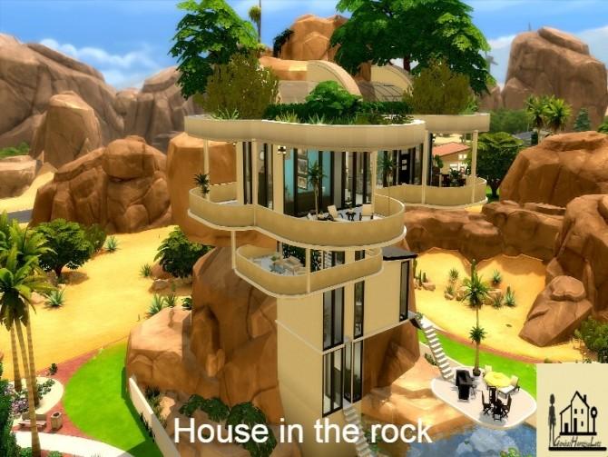Sims 4 Rock House by GenkaiHaretsu at TSR