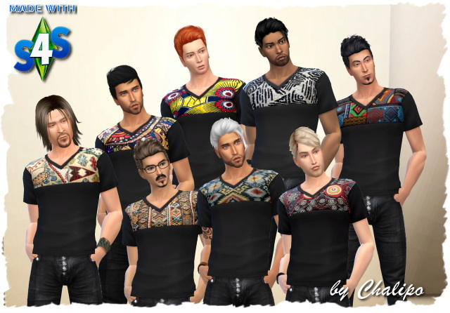 Ethno Man Shirt by Chalipo at All 4 Sims image 866 Sims 4 Updates
