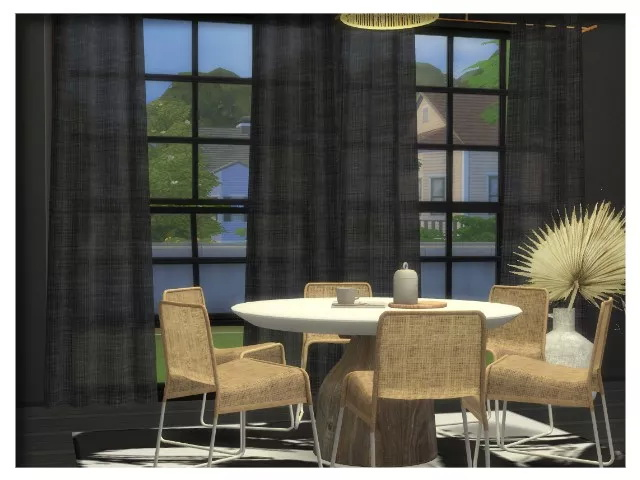 Sims 4 Loft curtains by Oldbox at All 4 Sims