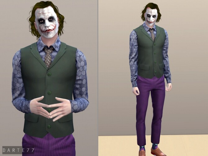 Sims 4 The Joker Outfit II by Darte77 at TSR
