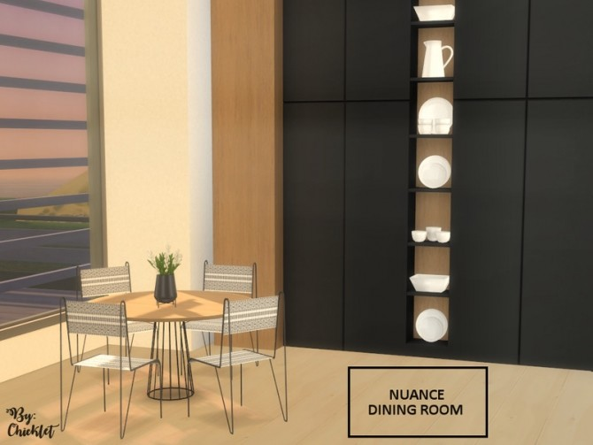 Nuance Dining Room by Chicklet at TSR image 873 670x503 Sims 4 Updates