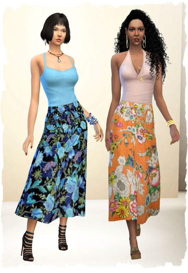 Sims 4 Skirt Spring by Chalipo at All 4 Sims