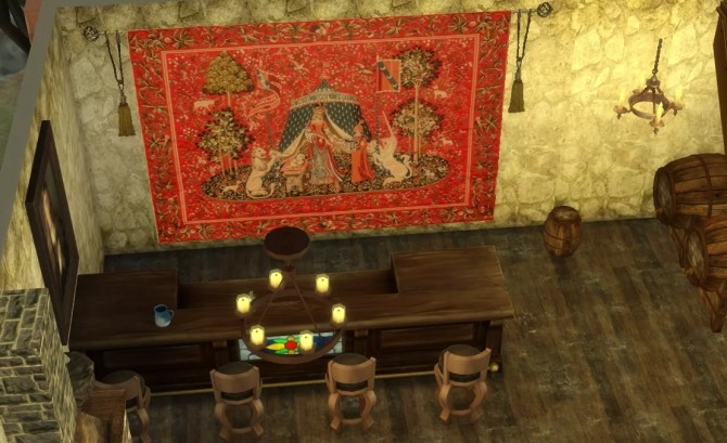 Sims 4 Medieval tapestries by Alikis Nook at Sims 4 Studio
