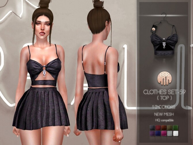 Sims 4 Clothes SET 59 (TOP) BD230 by busra tr at TSR