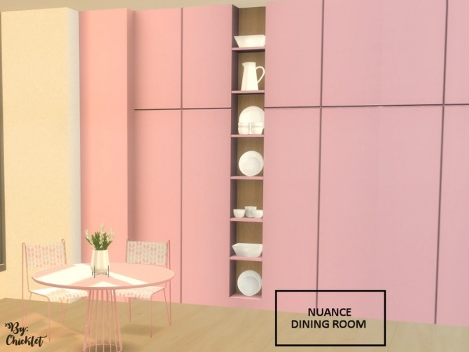 Nuance Dining Room by Chicklet at TSR image 883 670x503 Sims 4 Updates