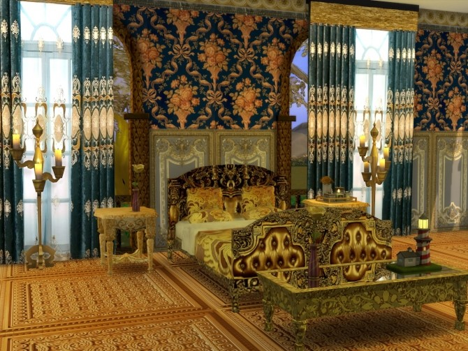 Golden World Set, Bed & End Table at Anna Quinn Stories image 885 670x503 Sims 4 Updates