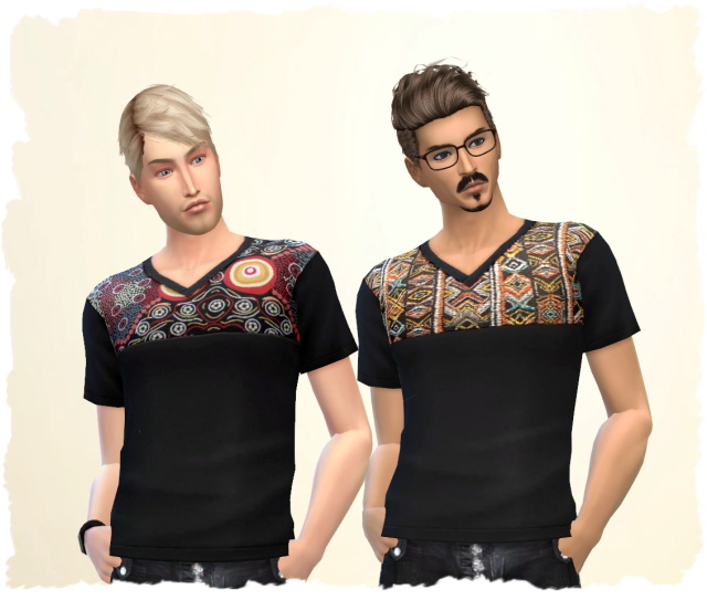 Ethno Man Shirt by Chalipo at All 4 Sims image 886 Sims 4 Updates