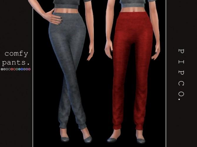 Sims 4 Comfy pants by Pipco at TSR