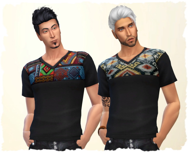 Ethno Man Shirt by Chalipo at All 4 Sims image 896 Sims 4 Updates