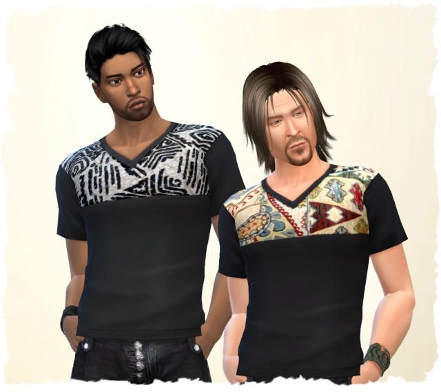 Ethno Man Shirt by Chalipo at All 4 Sims image 906 Sims 4 Updates