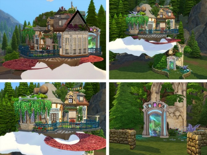 Sims 4 Howls Flying Castle by Ineliz at TSR
