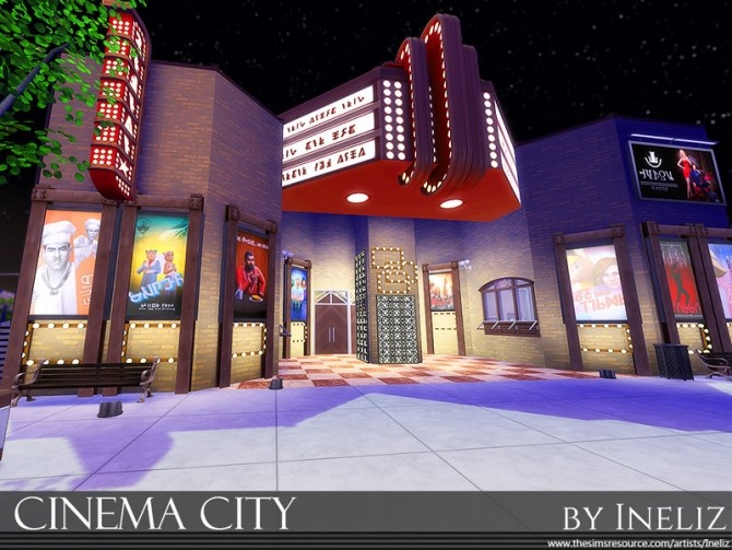 Sims 4 Cinema City by Ineliz at TSR