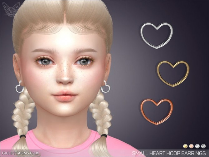 Small Heart Hoop Earrings For Kids at Giulietta image 911 670x503 Sims 4 Updates