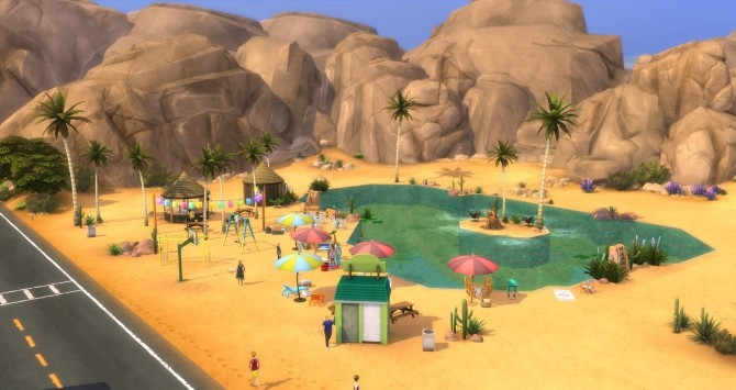 Sims 4 Oasis Beach by LaLuvi at Mod The Sims