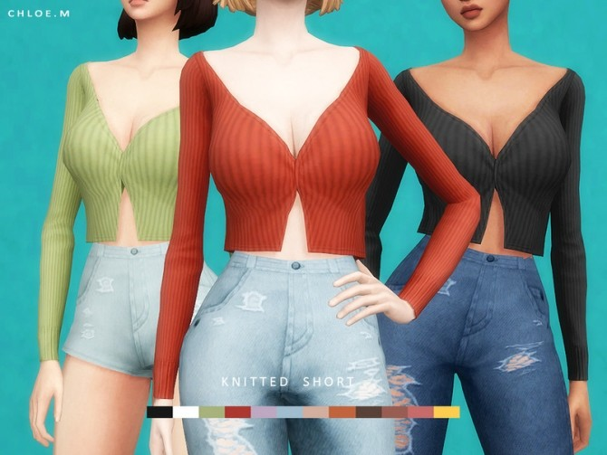 Knitted Shirt by ChloeMMM at TSR image 915 670x503 Sims 4 Updates