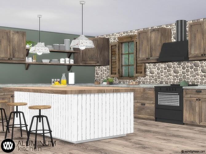 Aluminum Kitchen by wondymoon at TSR image 9223 670x503 Sims 4 Updates