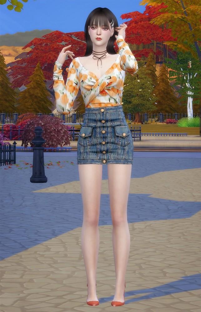 Sims 4 Daisy at Vicky SweetBunny