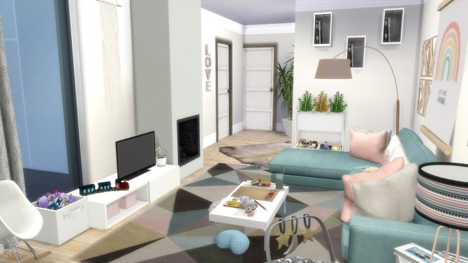 Sims 4 GIRL MOM APARTMENT WITH TWO KIDS at Dinha Gamer