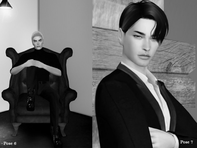 Sims 4 Black Line Pose Pack by Beto ae0 at TSR