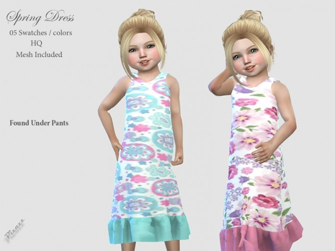 Toddler Spring Dress by pizazz at TSR image 9419 670x503 Sims 4 Updates