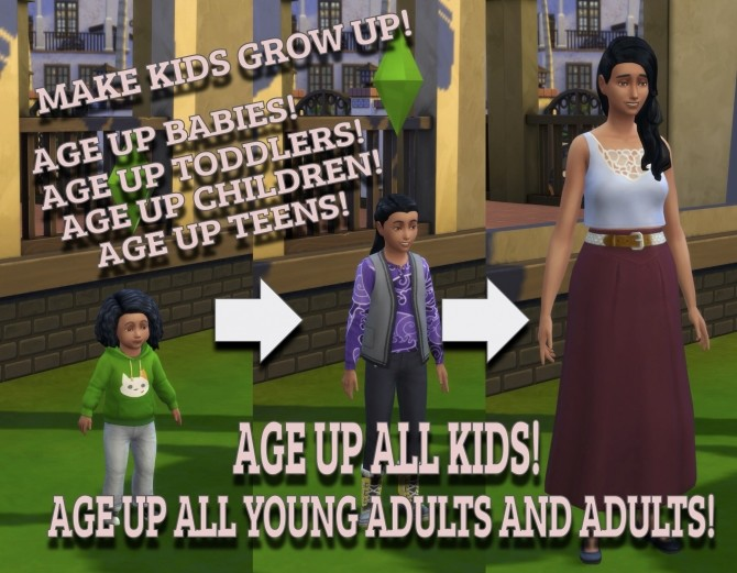Sims 4 Age Up by Age Group by bentonj at Mod The Sims