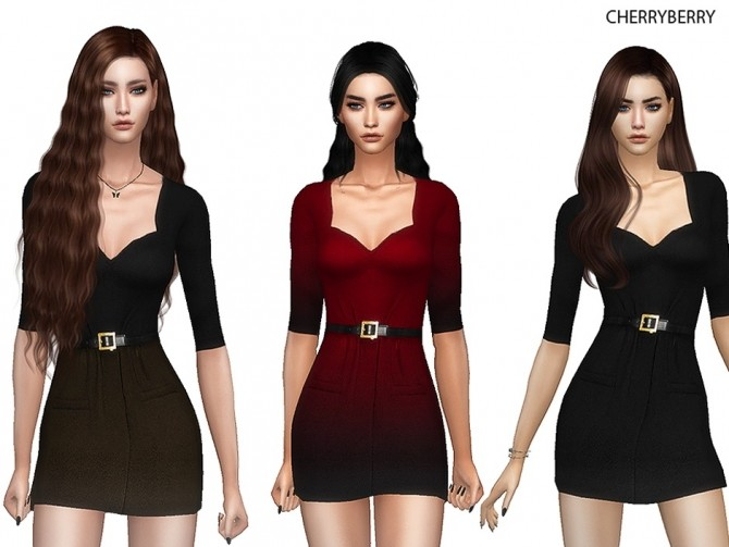 Sims 4 Fashionista Dress at Cherryberry