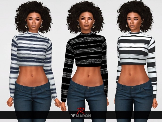 Sims 4 Simple Sweater for Women 01 by remaron at TSR
