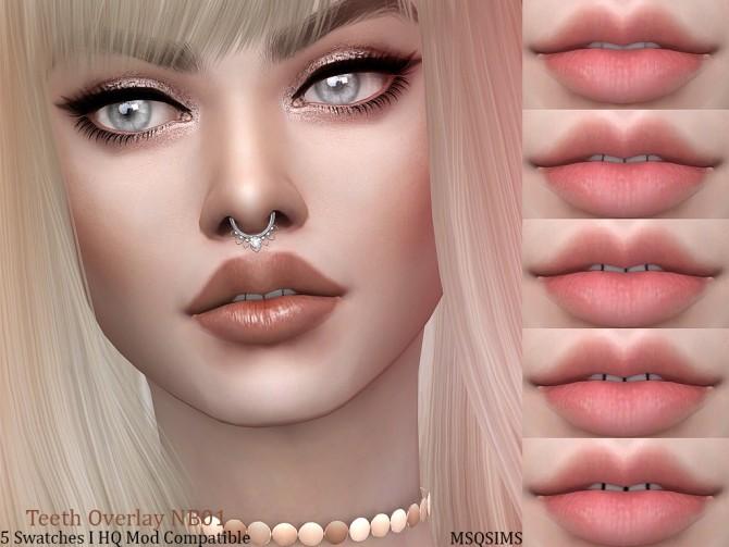 Sims 4 Teeth Overlay NB01 at MSQ Sims