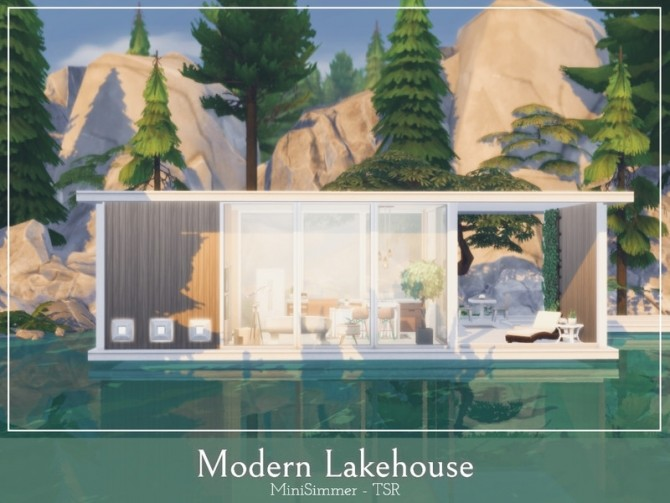 Modern Lake house by Mini Simmer at TSR image 980 670x503 Sims 4 Updates