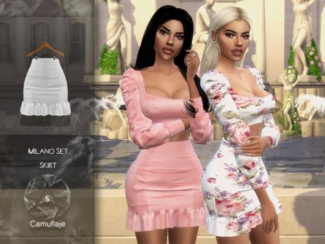 Sims 4 Milano Set (Skirt) by Camuflaje at TSR