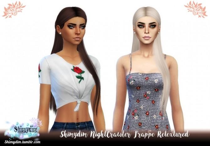 Sims 4 NightCrawler Frappe Hair Retexture Naturals + Unnaturals at Shimydim Sims