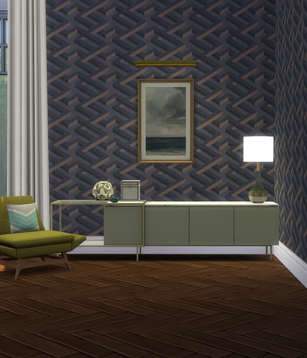Geometric Wallpapers at Alexpilgrim image 989 Sims 4 Updates