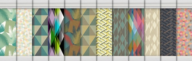 Geometric Wallpapers at Alexpilgrim image 9910 670x214 Sims 4 Updates