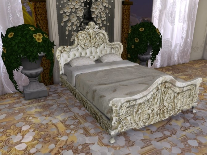 Sims 4 Ghostly Whispers Bed at Anna Quinn Stories