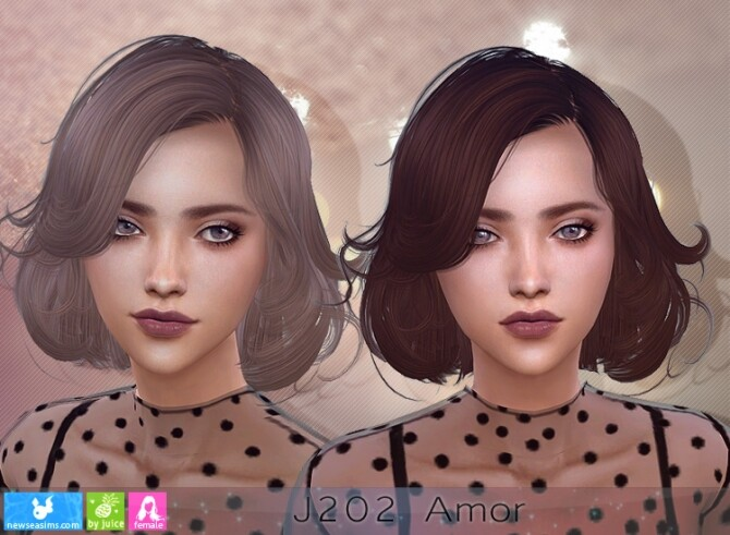 Sims 4 J202 Amor hairstyle (P) at Newsea Sims 4