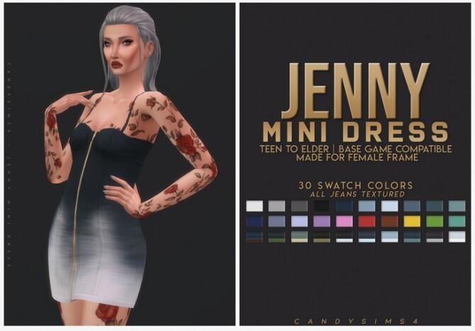 Sims 4 JENNY MINI DRESS at Candy Sims 4