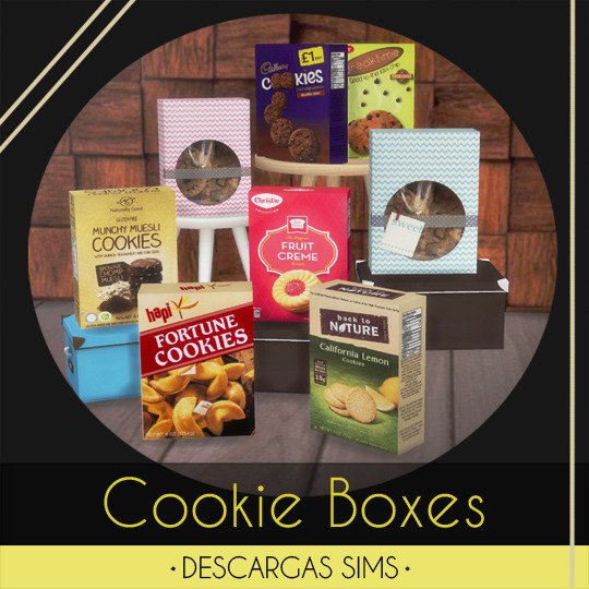 Sims 4 Cookie Boxes at Descargas Sims