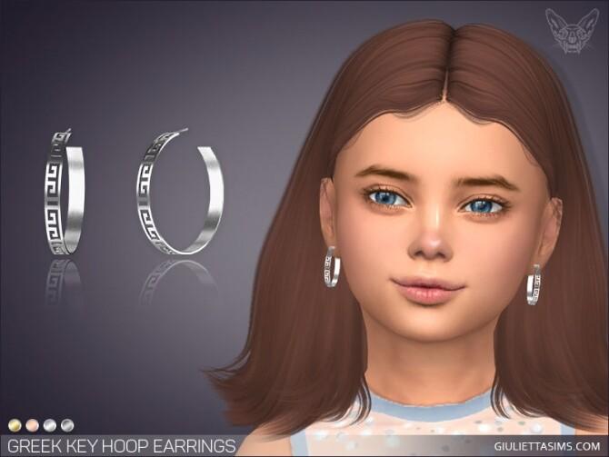 Greek Key Hoop Earrings For Kids at Giulietta image 10419 670x503 Sims 4 Updates